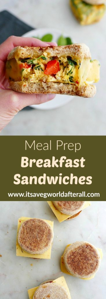 meal prep breakfast sandwiches pin