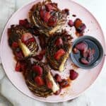 roasted radicchio with strawberry balsamic