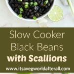 slow cooker black beans with scallions pin