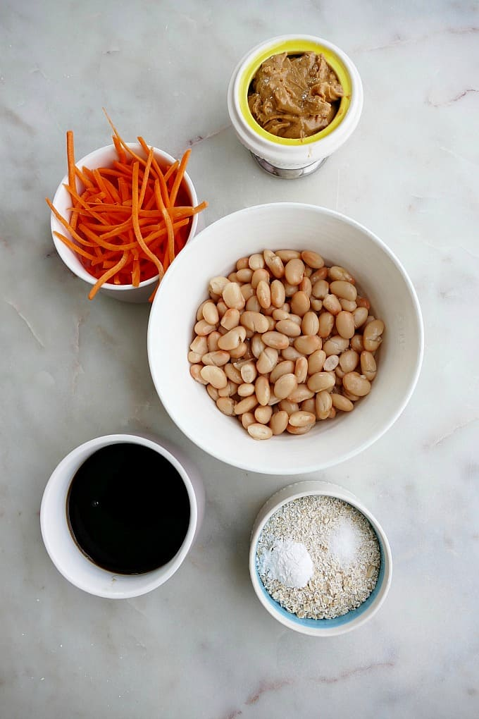 ingredients for white bean blondies