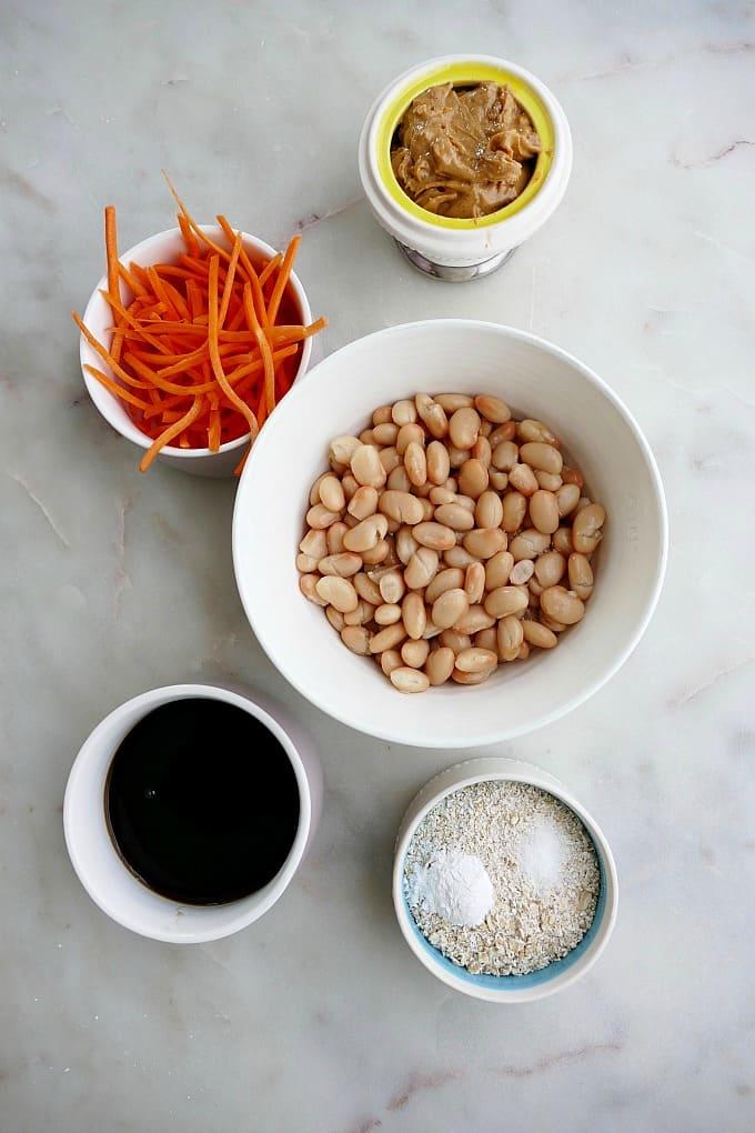 ingredients for white bean blondies