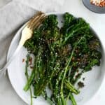 sauteed broccolini on a plate