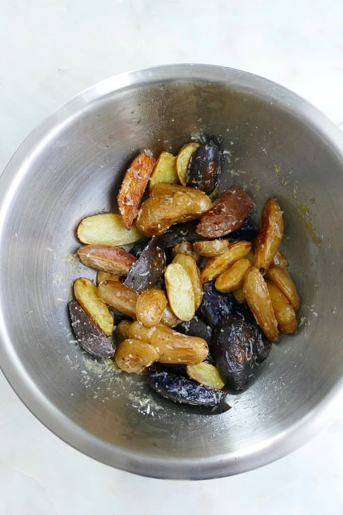 fingerling potatoes in a bowl