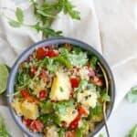 a quinoa salad in a bowl