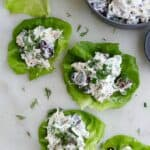 rotisserie chicken salad lettuce cups