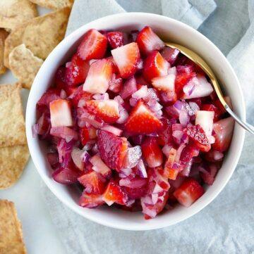 strawberry rhubarb salsa