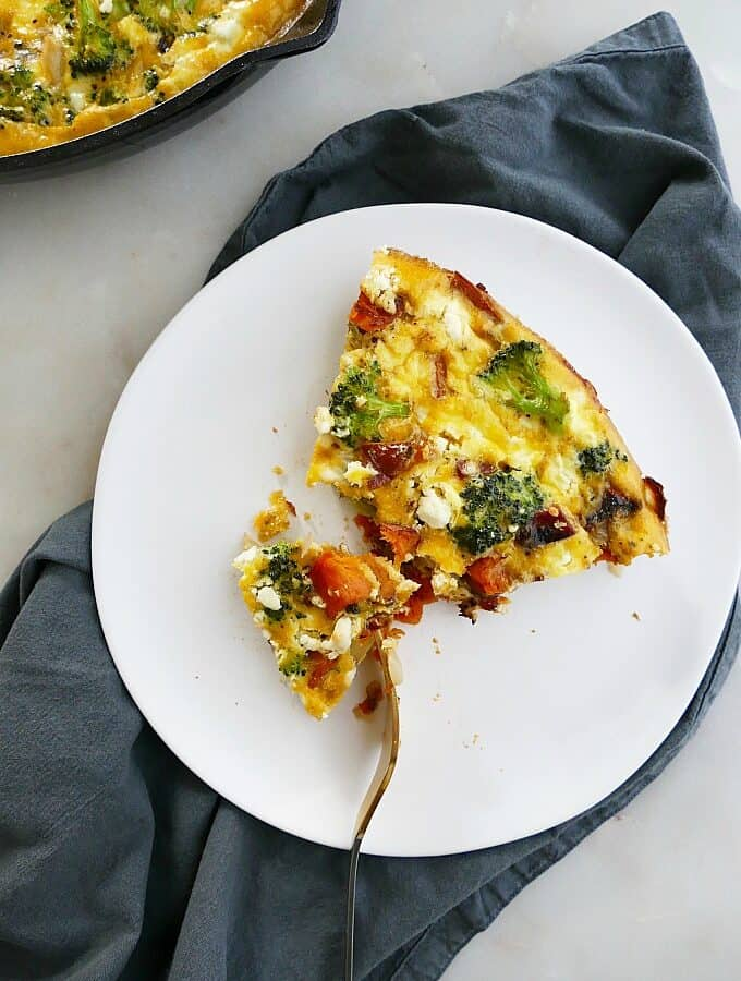 broccoli and sweet potato frittata