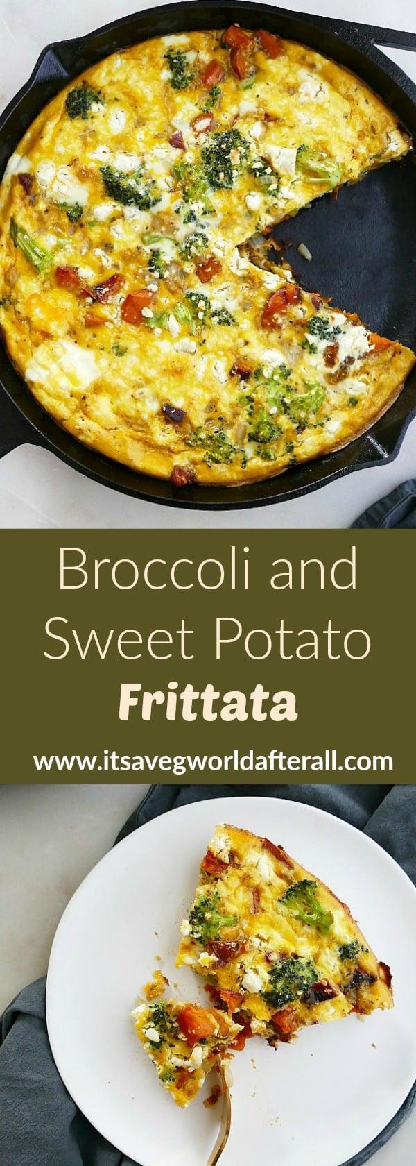 broccoli and sweet potato frittata