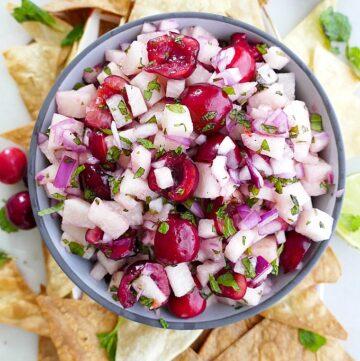 jicama cherry salsa