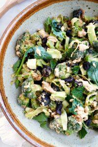 broccoli salad with peanut dressing