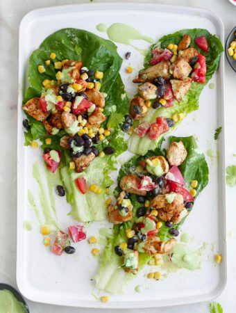 southwest healthy chicken lettuce wraps