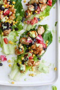 southwest healthy chicken lettuce wraps