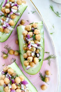 chickpea salad cucumber boats