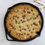 chocolate zucchini gluten free skillet cookie