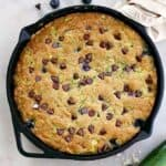 chocolate zucchini gluten free skillet cookie