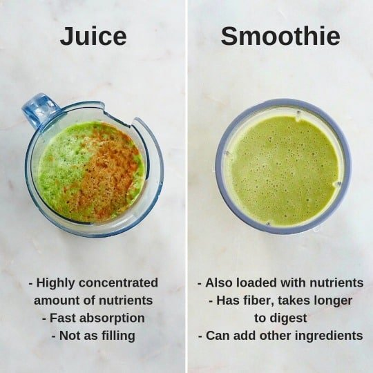 juice vs smoothie pros and cons
