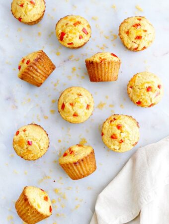 bell pepper and cheddar savory muffins