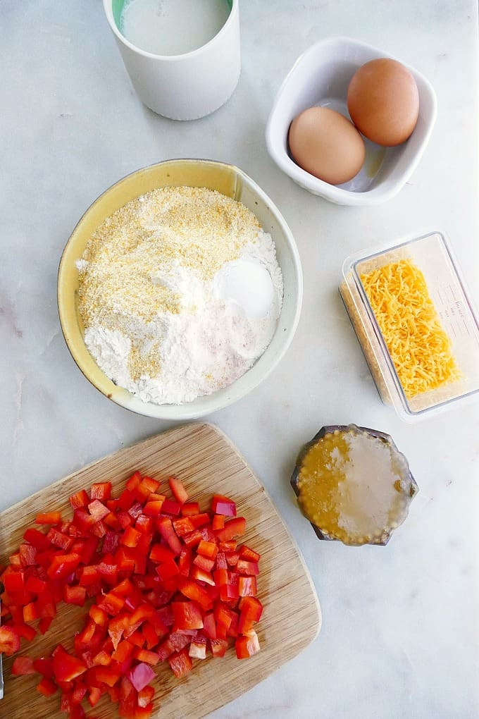 savory muffin ingredients
