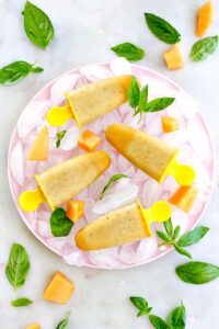 cucumber melon fruit and vegetable popsicles