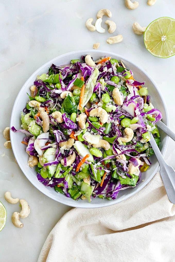 cashew cabbage salad