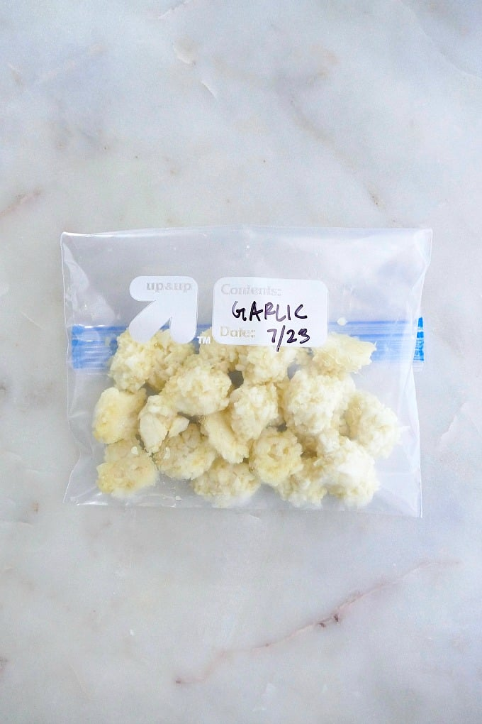 frozen garlic