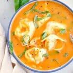 fresh tomato tortellini soup