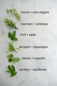 herbs with text overaly
