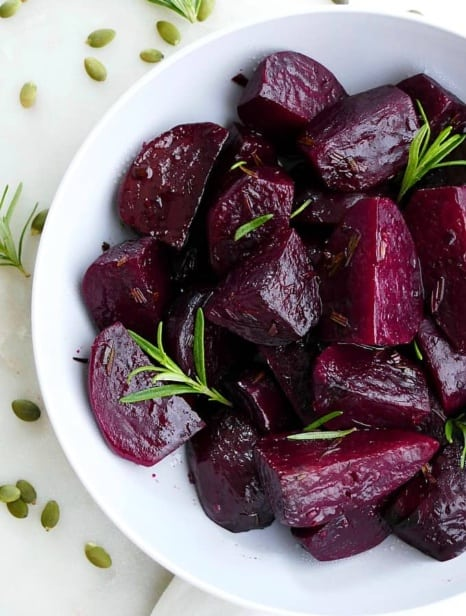 rosemary honey slow cooker beets