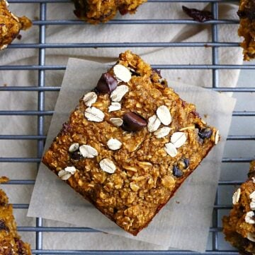 one pumpkin oatmeal bar