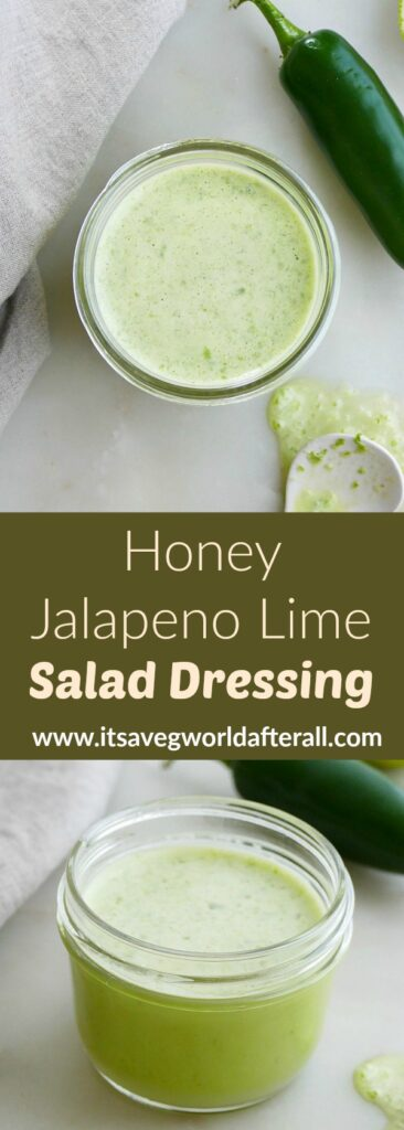 images of salad dressing with a green text box in between